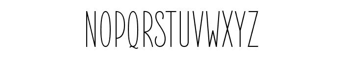ElegantSans-Light Font UPPERCASE
