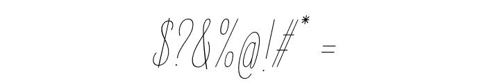 ElegantSans-ThinItalic Font OTHER CHARS
