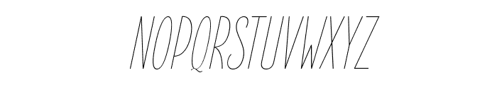 ElegantSans-ThinItalic Font UPPERCASE