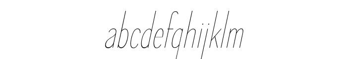 ElegantSans-ThinItalic Font LOWERCASE