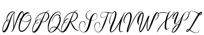 ElegantaSignaturo Font UPPERCASE