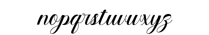 ElegantaSignaturo Font LOWERCASE