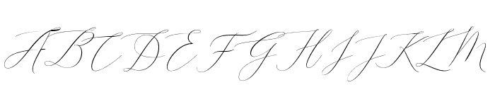 EliseDafisaScript-Regular Font UPPERCASE