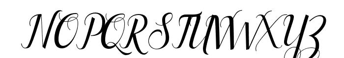 Ellizabeth Font UPPERCASE
