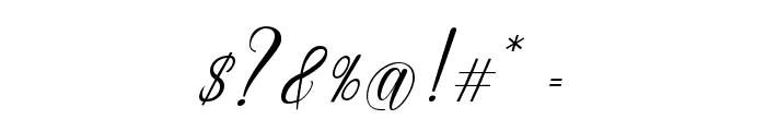 EmainellScript Font OTHER CHARS