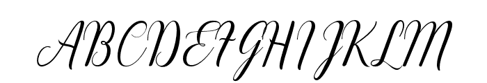 EmainellScript Font UPPERCASE