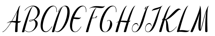 Emalia Font UPPERCASE