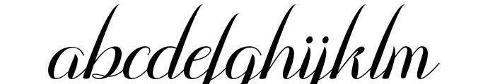 Emalia Font LOWERCASE
