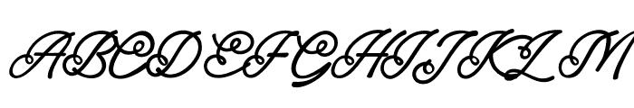 England Script Font UPPERCASE