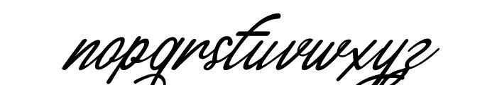 England Script Font LOWERCASE