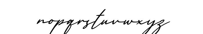 England Signature Italic Font LOWERCASE