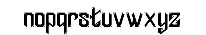 England Font LOWERCASE