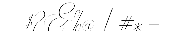 Englandslant-Italic Font OTHER CHARS