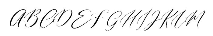 English Channel Regular Font UPPERCASE