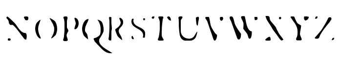 Esther-Exhaust Font UPPERCASE