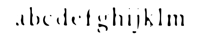 Esther-Exhaust Font LOWERCASE