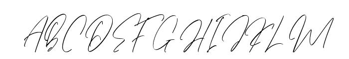 Etiquette Font UPPERCASE