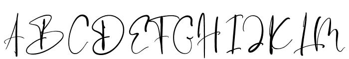 Evanston Font UPPERCASE