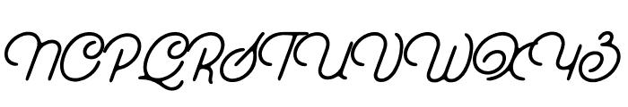 EverydayScript-Regular Font UPPERCASE