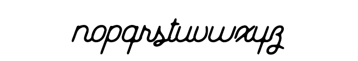 EverydayScript-Regular Font LOWERCASE
