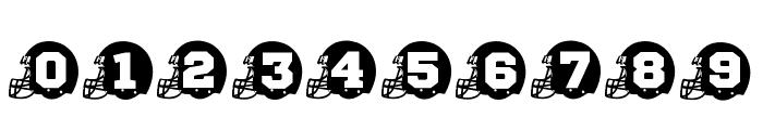 FOOTBALL HELMET Font OTHER CHARS
