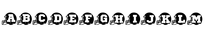 FOOTBALL HELMET Font UPPERCASE