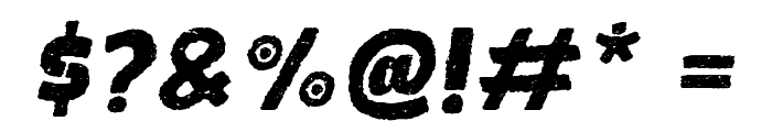 FROHROUGHITALIC Font OTHER CHARS