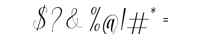 FabulousScript Font OTHER CHARS