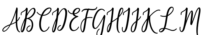 FabulousScript Font UPPERCASE