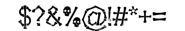Falange Aged Font OTHER CHARS