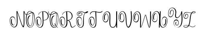 Falisha-01 Font UPPERCASE