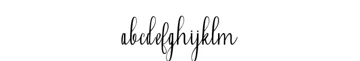 Falisha-01 Font LOWERCASE