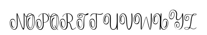 Falisha05 Font UPPERCASE