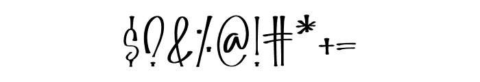 FallHarvest Font OTHER CHARS