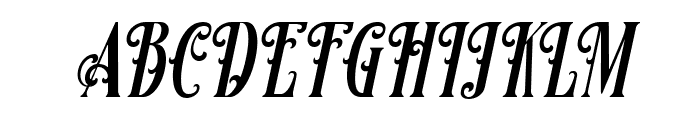 Famous flames Italic Font UPPERCASE