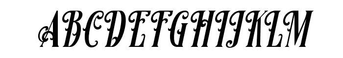 Famousflames-Italic Font UPPERCASE