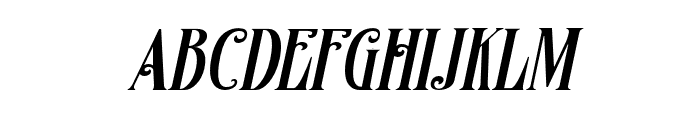Famousflames-Italic Font LOWERCASE