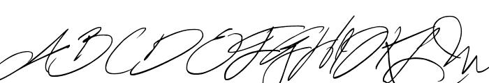 Fascinating Signature Font UPPERCASE