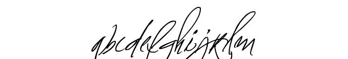 Fascinating Signature Font LOWERCASE