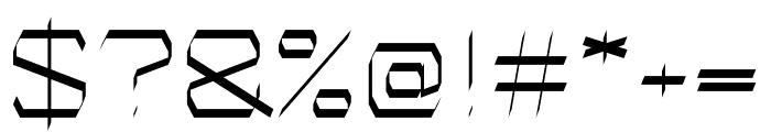 Fast regular Font OTHER CHARS
