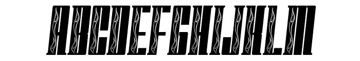 FastBlockFlames Font UPPERCASE
