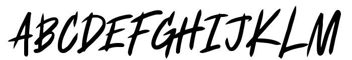 Fearless Font UPPERCASE