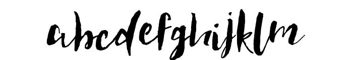 Feathertop Font LOWERCASE