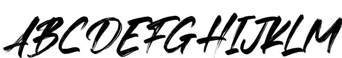 Fedattona Italic Font UPPERCASE
