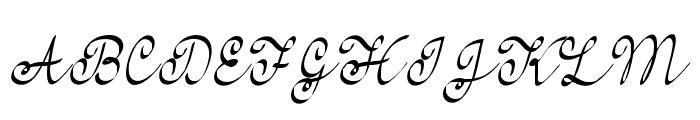 FeelMyHeart Font UPPERCASE