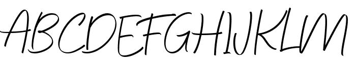 Feeling Signature Font UPPERCASE