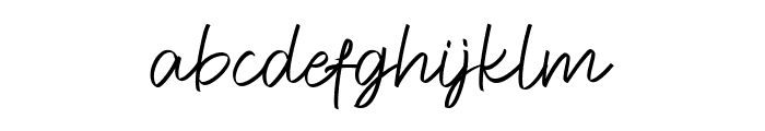Feeling Signature Font LOWERCASE