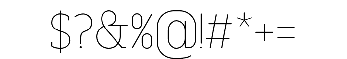 FinalistRoundSlab-35Thin Font OTHER CHARS
