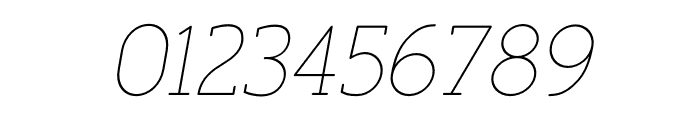 FinalistRoundSlab-35ThinItalic Font OTHER CHARS