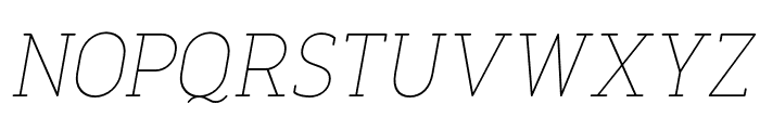 FinalistRoundSlab-35ThinItalic Font UPPERCASE